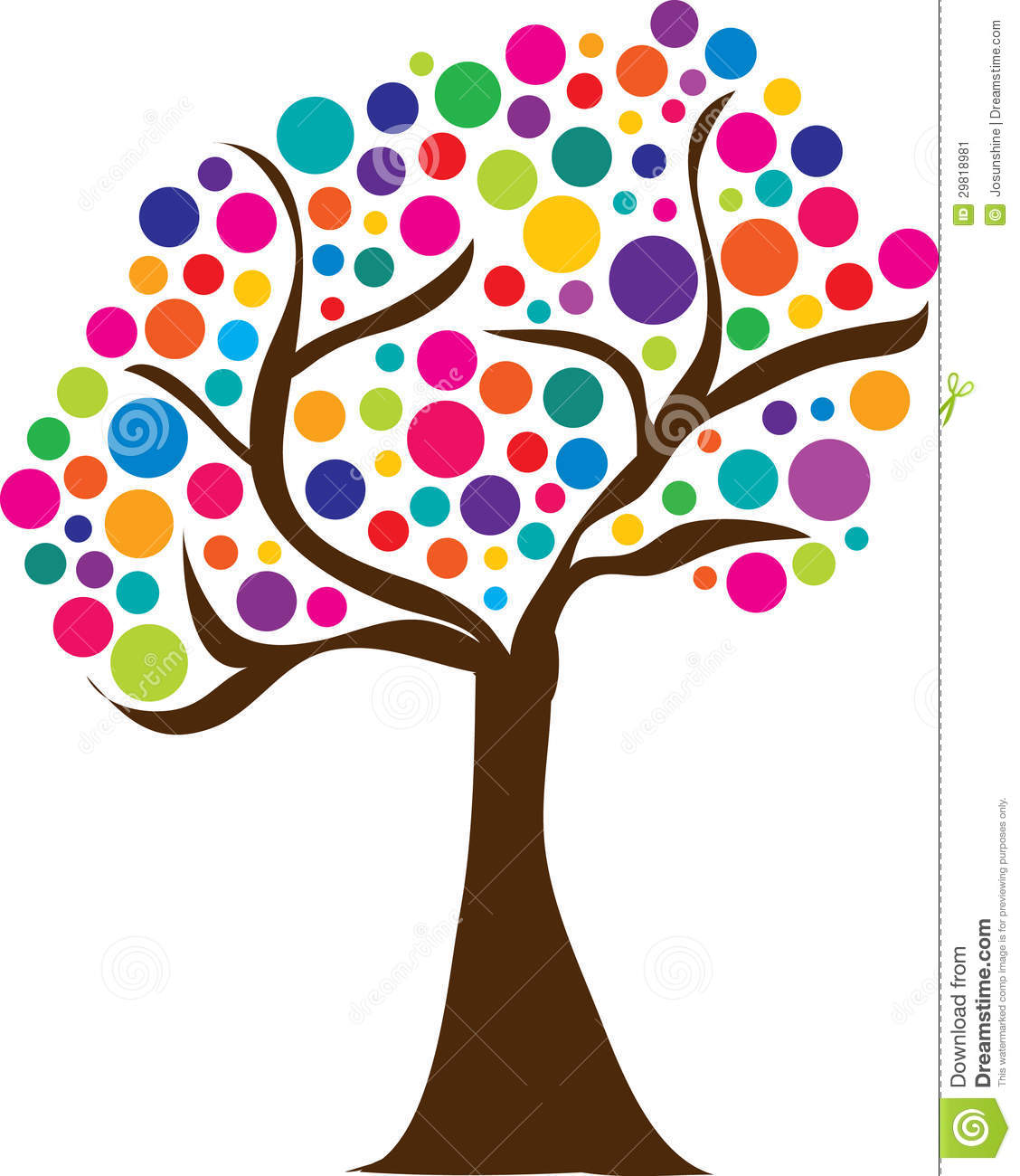 Cute Spring Tree Logo Easter Stock Vector Illustration Of