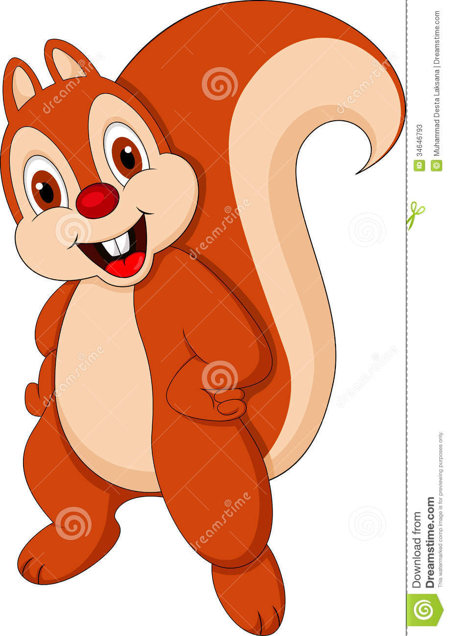 Cute Squirrel Cartoon Stock Photos - Image: 34646793