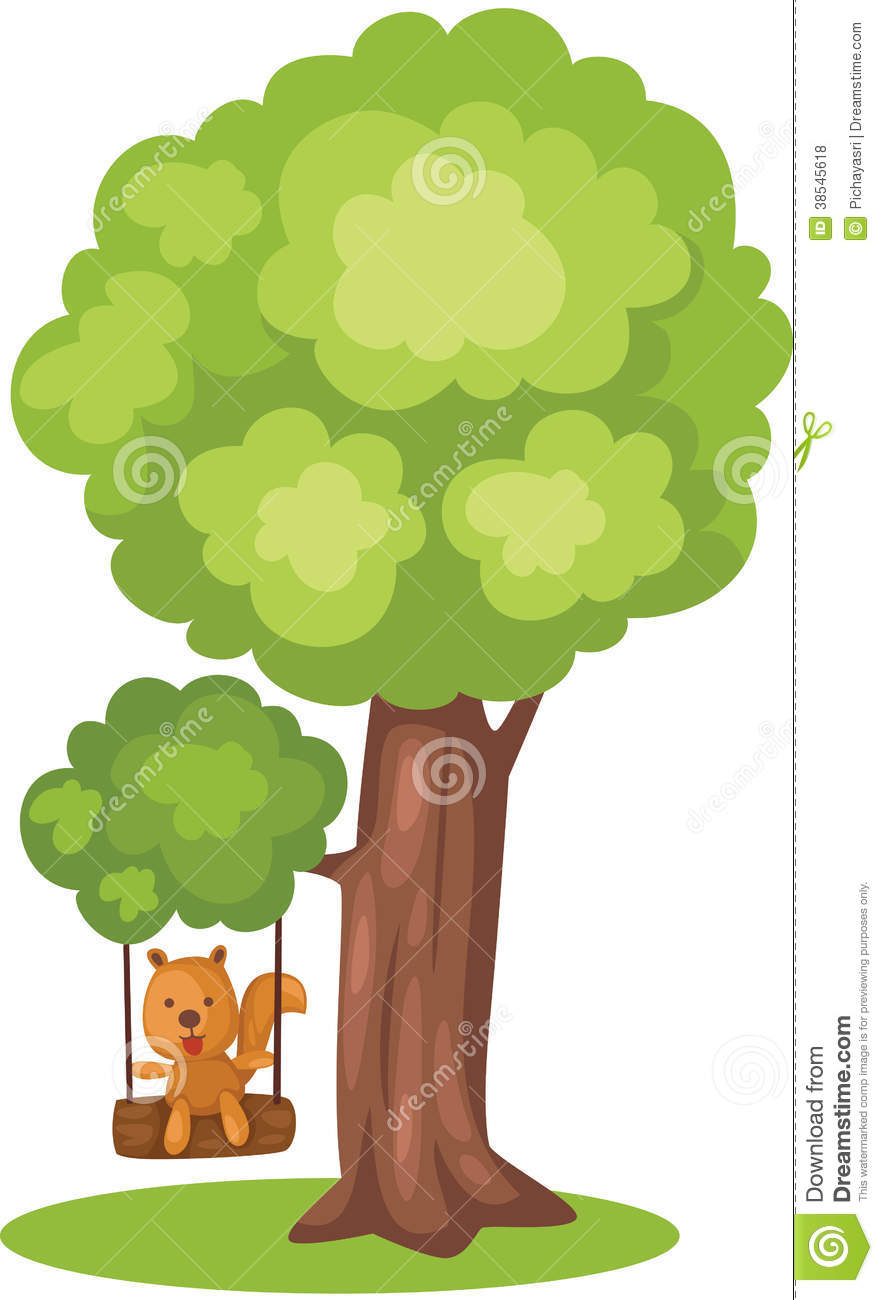 Cute Squirrel Playing Tree Swing Royalty Free Stock Photos ...