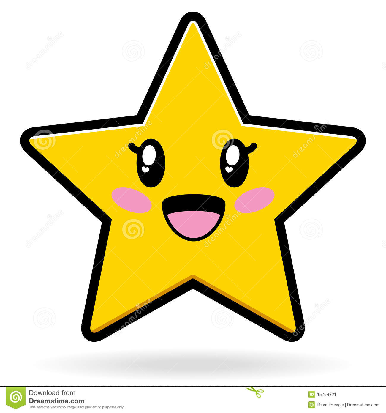 An illustration of a cute star character / mascot. Available in vector ...