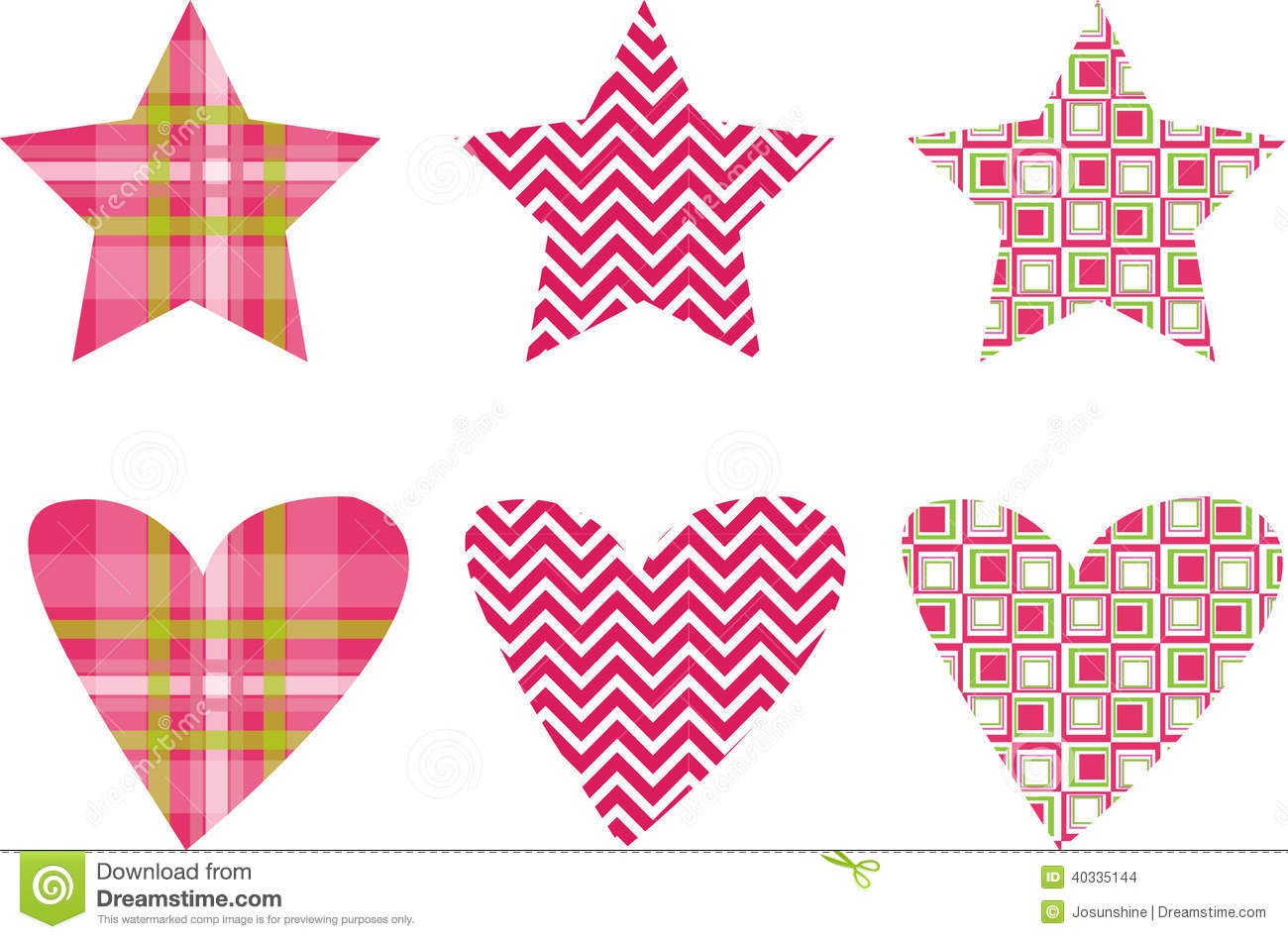 Heartbeat Pattern Heartbeat Vector Pattern Vector: Cute Star & Heart Pattern Vectors Stock Vector