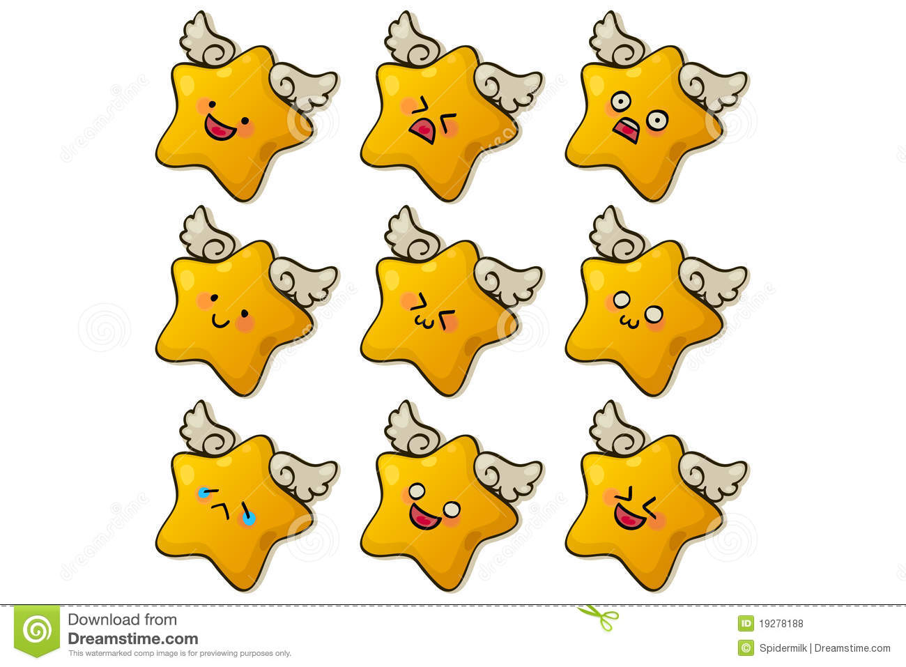 cute stars stock vector  illustration of human  expression