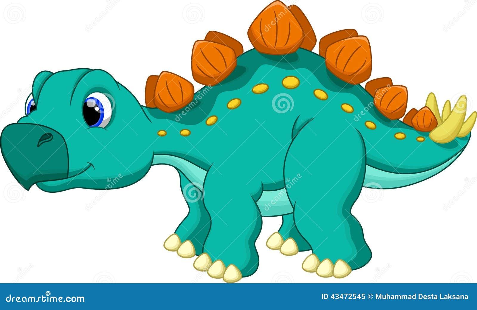 Cute Stegosaurus Cartoon Stock Illustration Image Of