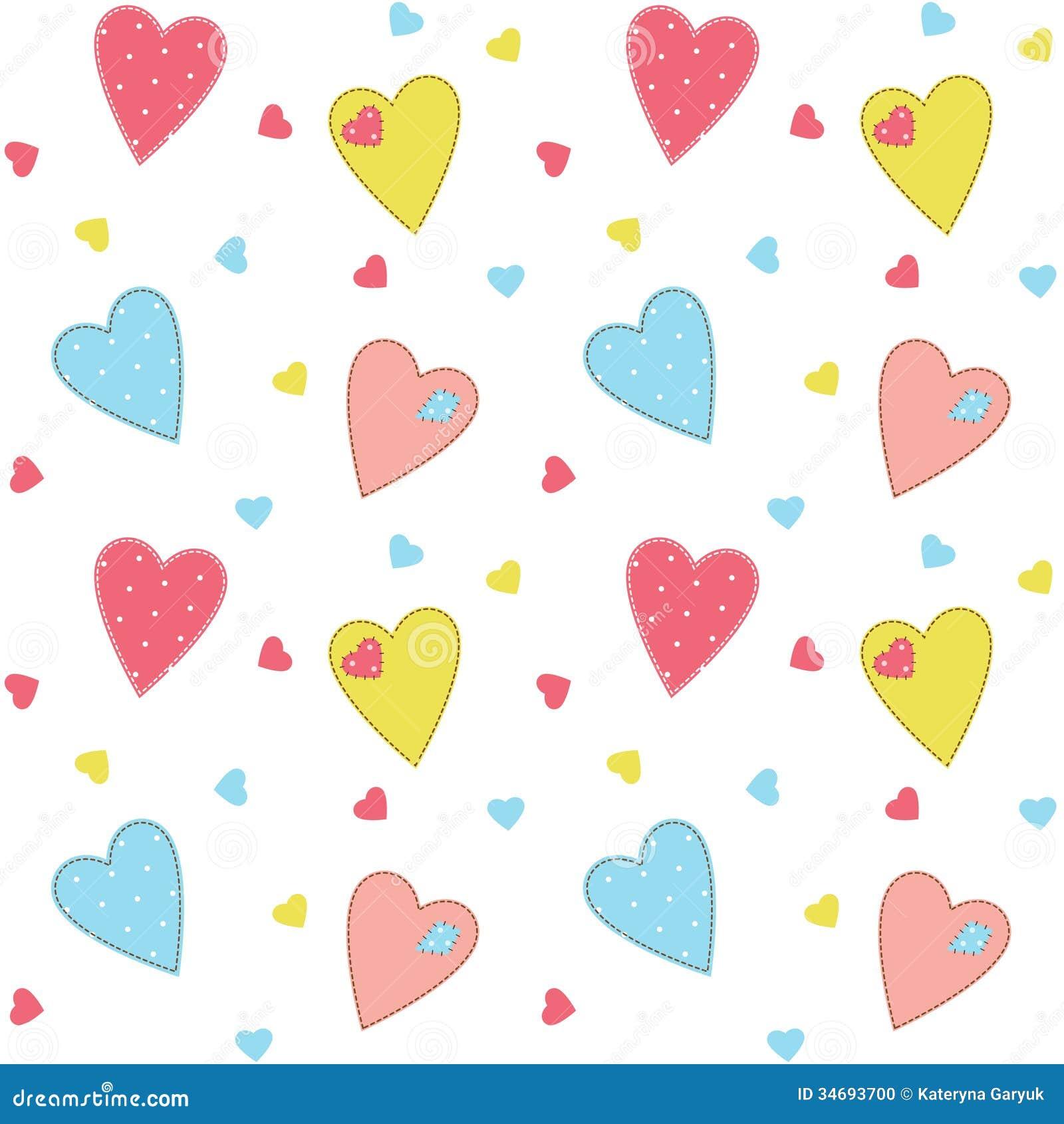 cute heart pattern wallpaper - photo #39