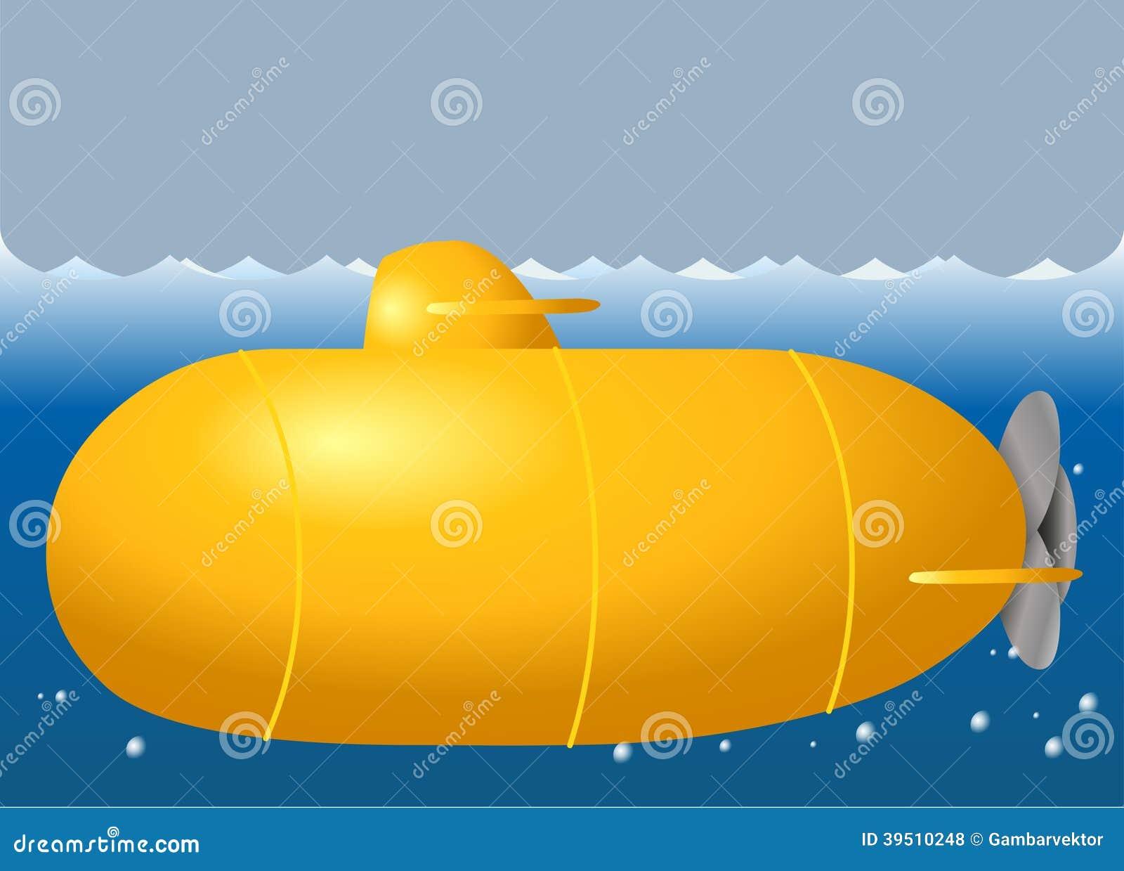 Cute submarine