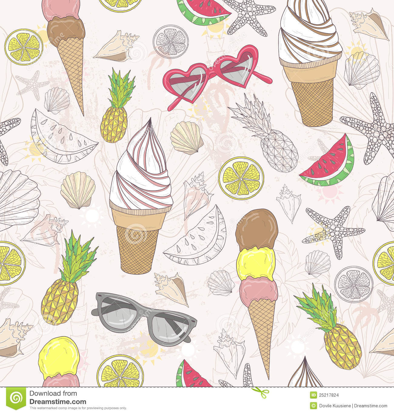 Icecreames Wallpaper On Tumblr: Cute Summer Abstract Pattern Stock Images