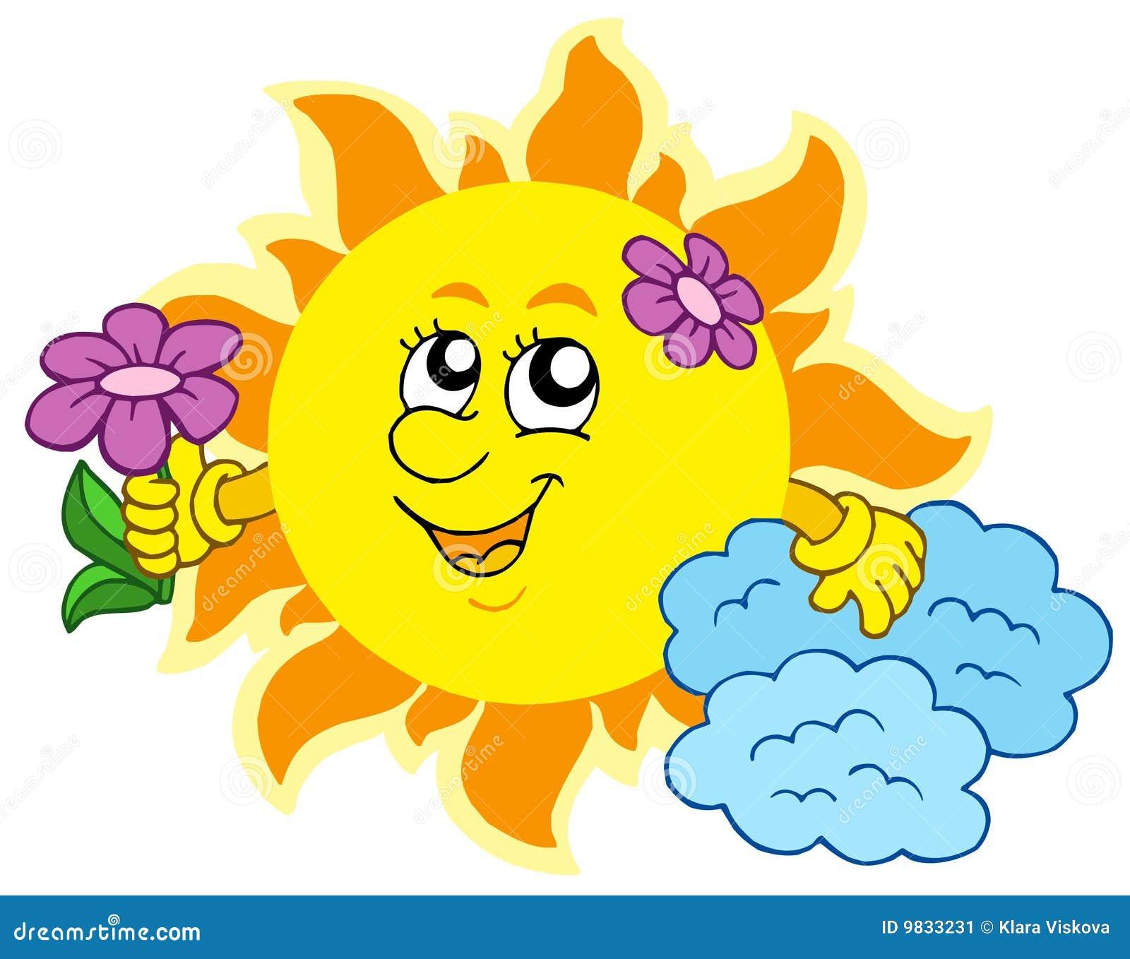 Cute Sun With Flower S...