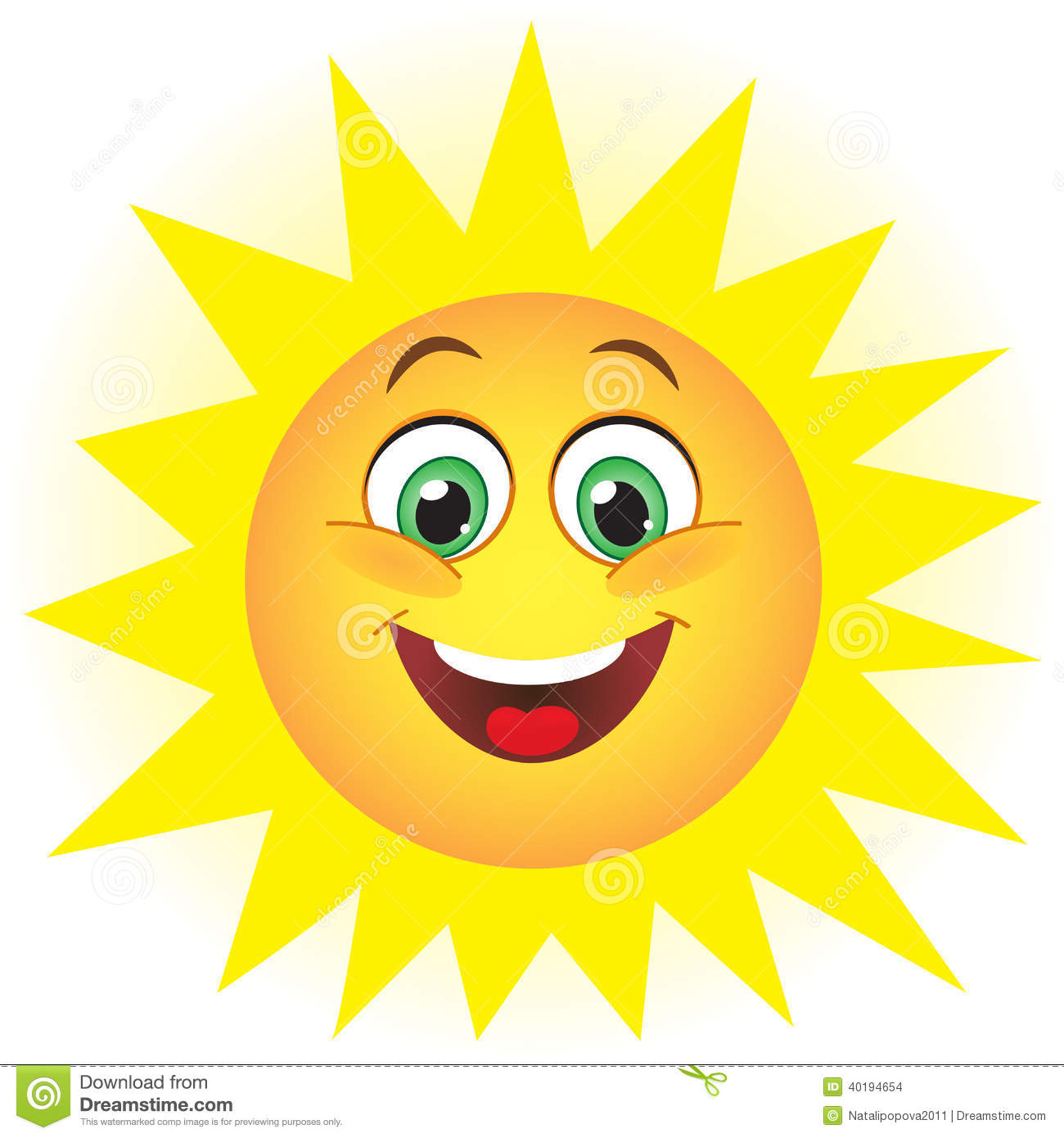 Cute sun stock vector illustration of cute nature for Interesting art pictures