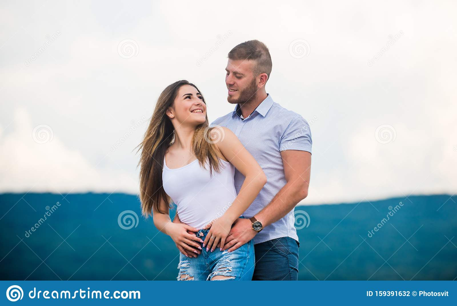 Cute And Sweet Relationship Couple In Love Couple Goals Concept