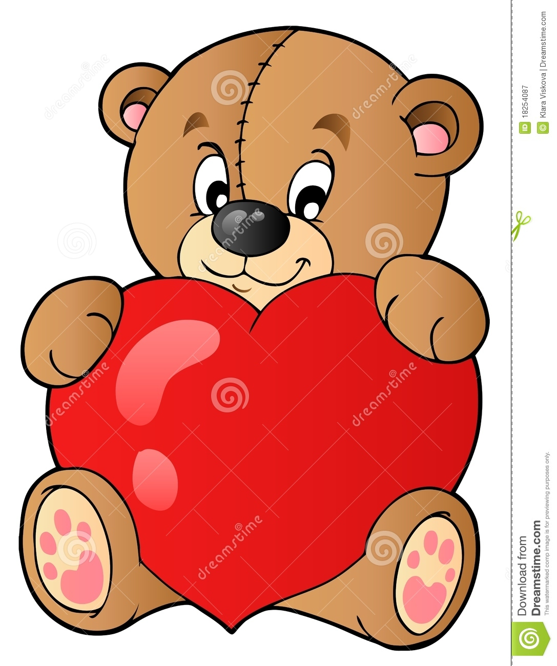 Cute Teddy Bear Holding Heart Royalty Free Stock Photography - Image ...