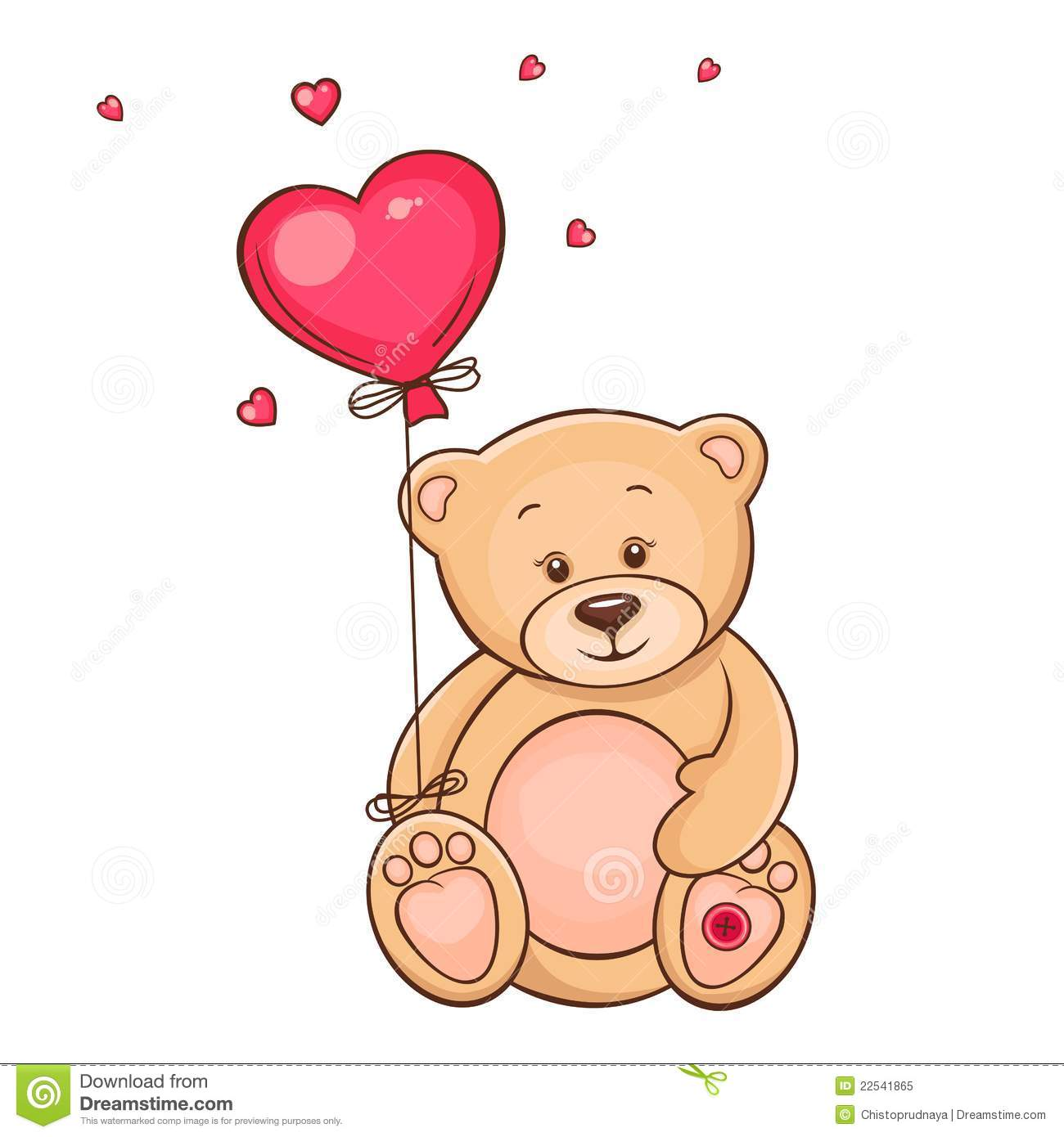 How To Draw A Teddy Bear Holding A Rose  Photo#13