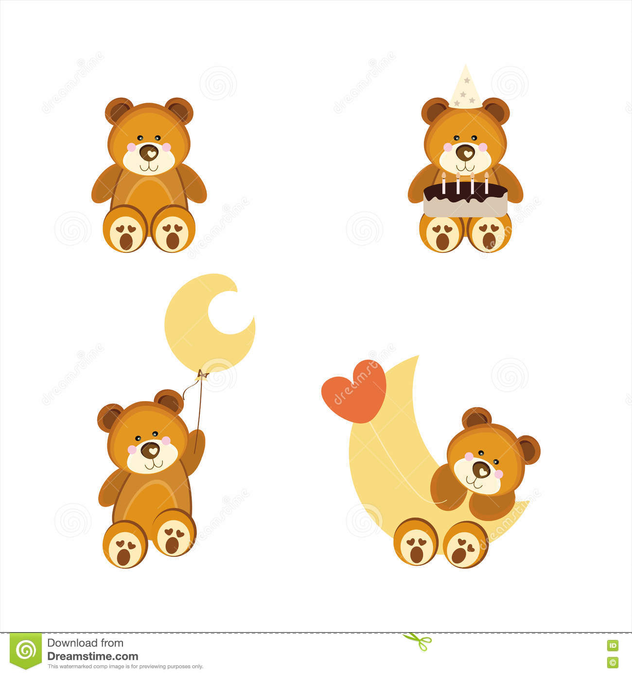 Cute Teddy Bears Stock Illustration Illustration Of Banner