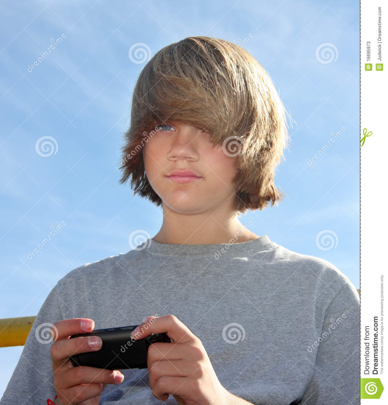Cute Teen Boy Texting Stock Photos Image 16695973