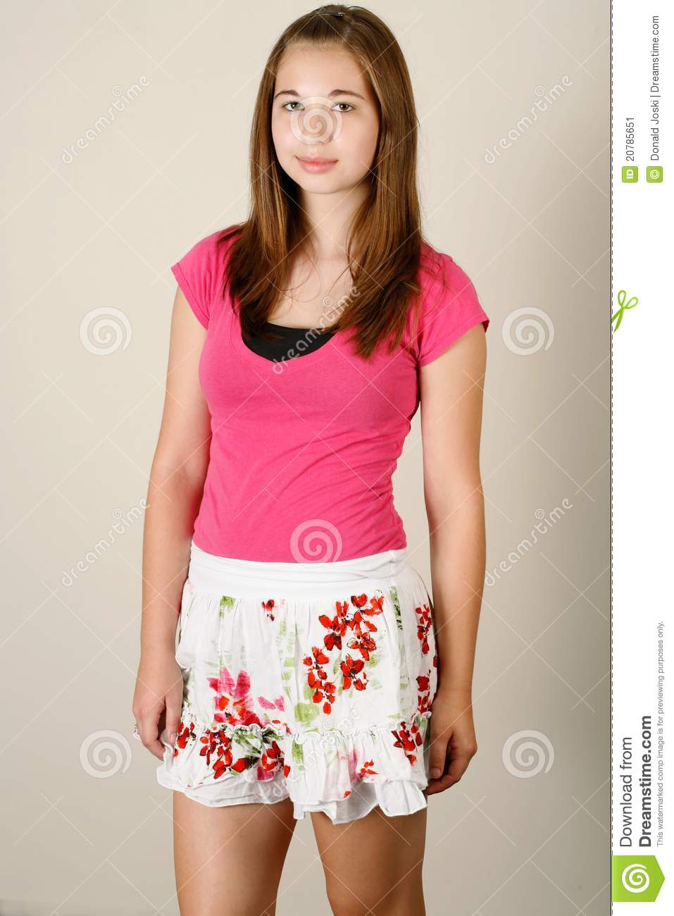 Cute Teen Fashion Stock Image. Image Of Pink, Cheerful