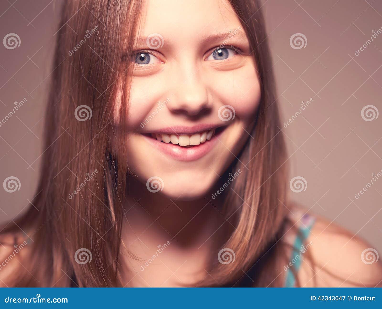 Cute Teen Girl Laughing Stock Photo Image 42343047