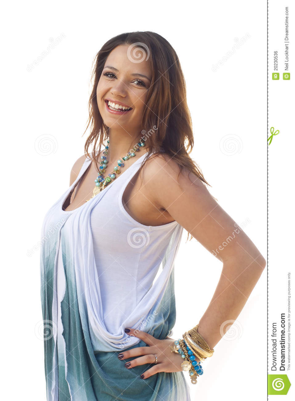 Cute Teen Girl Over White Royalty Free Stock Image Image
