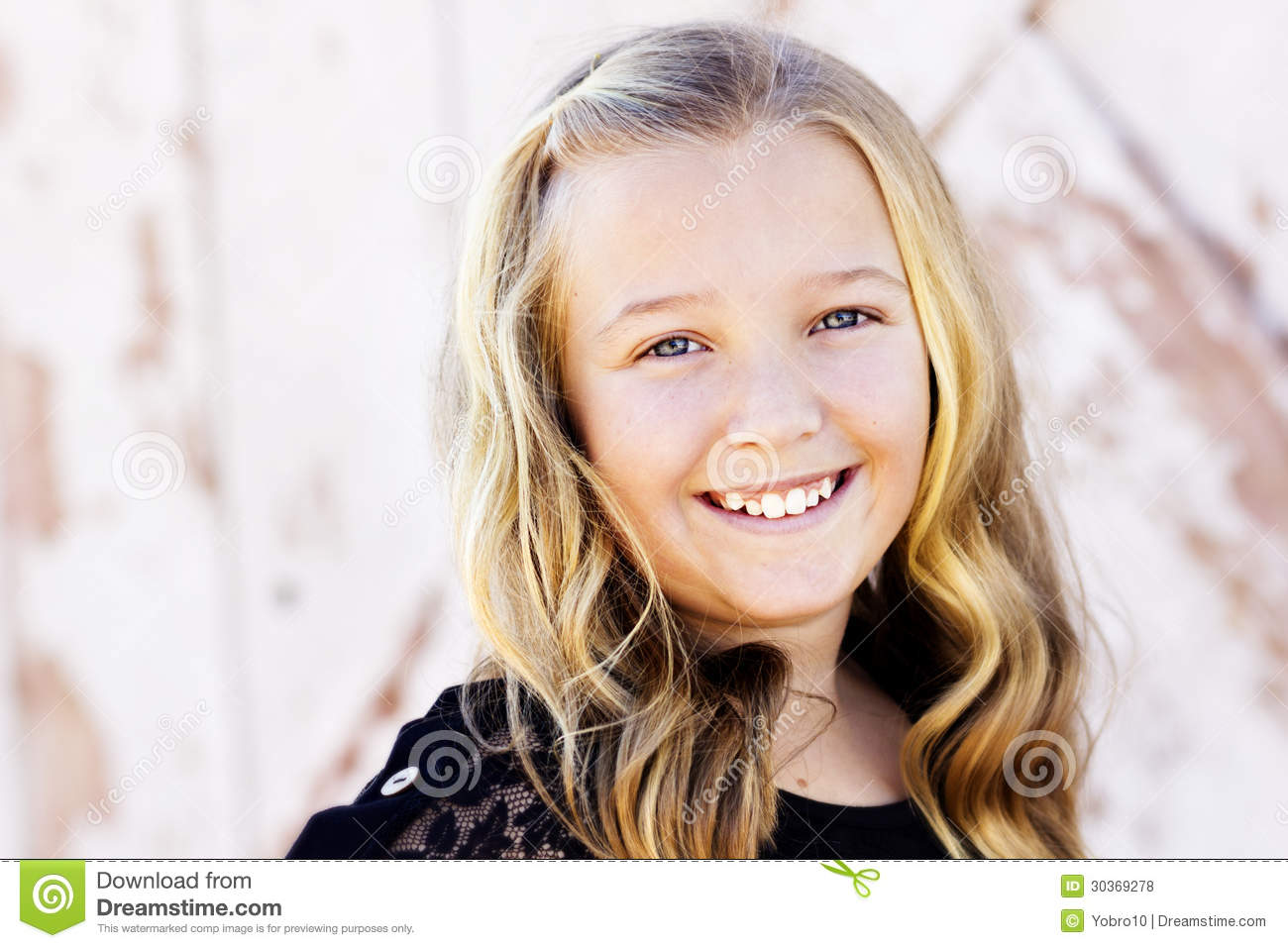 With Cute teen girl portrait