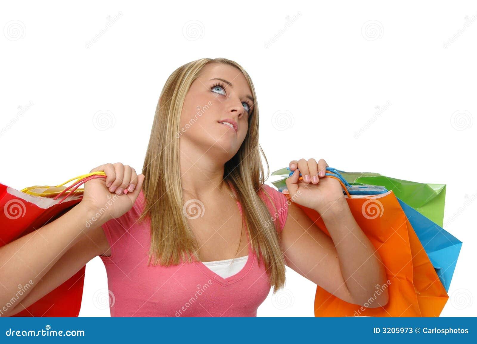 Cute Teen Girl Shopping Stock Photos Image 3205973