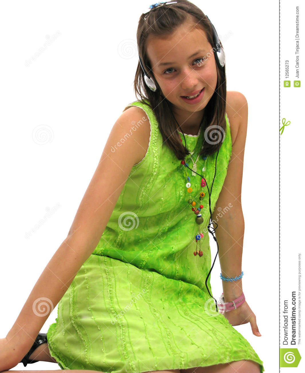 Cute teen girl wearing headphones stock image image Cute teenage girls pics