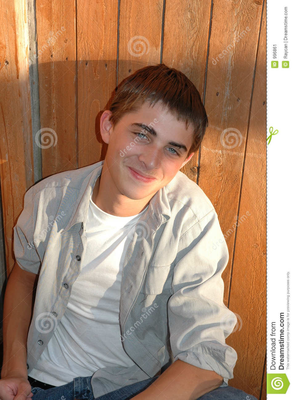 Cute Teenage Boy Stock Image Image Of Denim Child