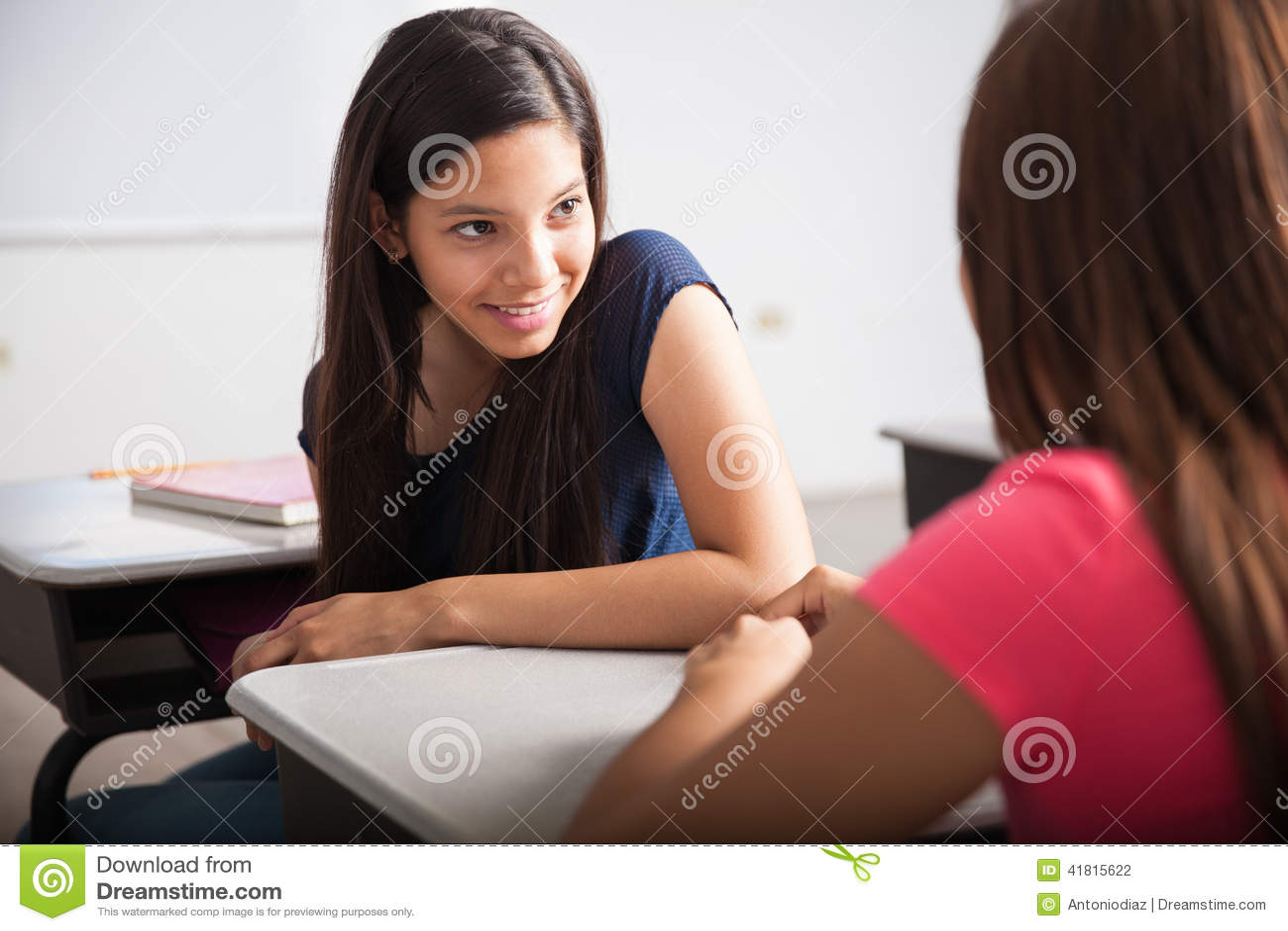 Cute Teens cute teens talking in class stock photo - image: 41815622