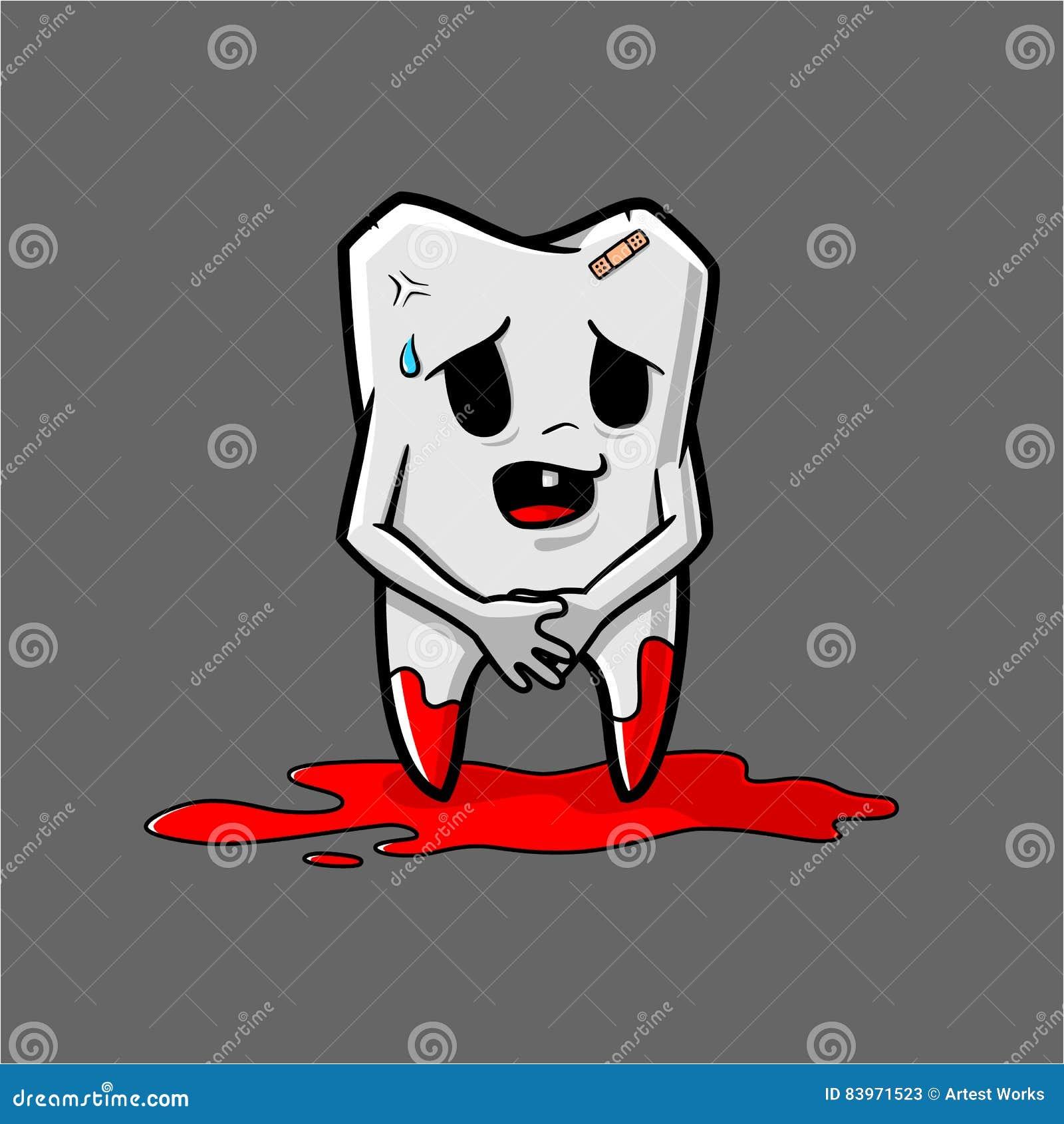 Cute Teeth Shame Vector Character Design Cartoon Vector ...