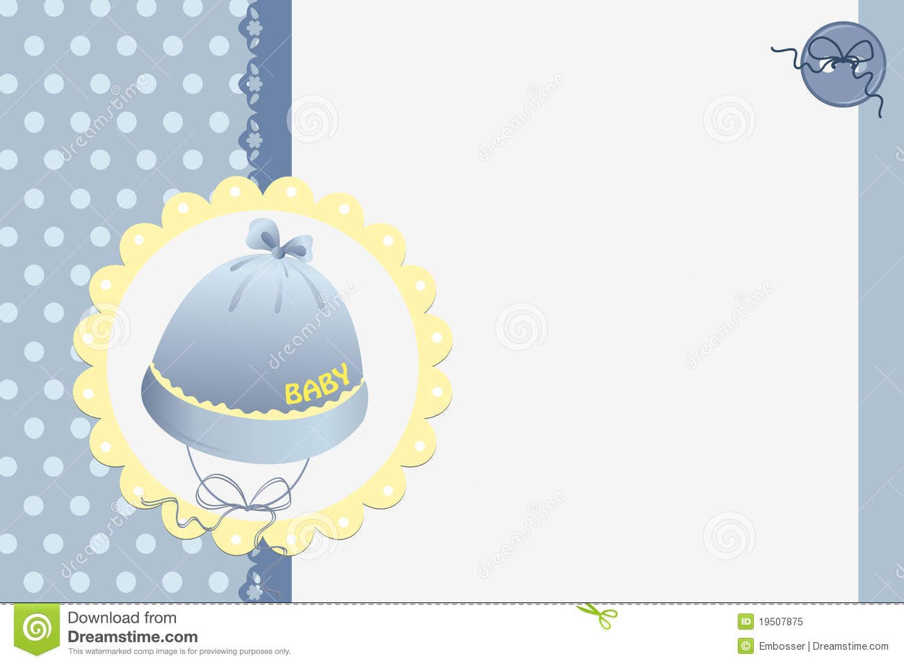 Cute Template For Babys Card Stock Vector Illustration Of