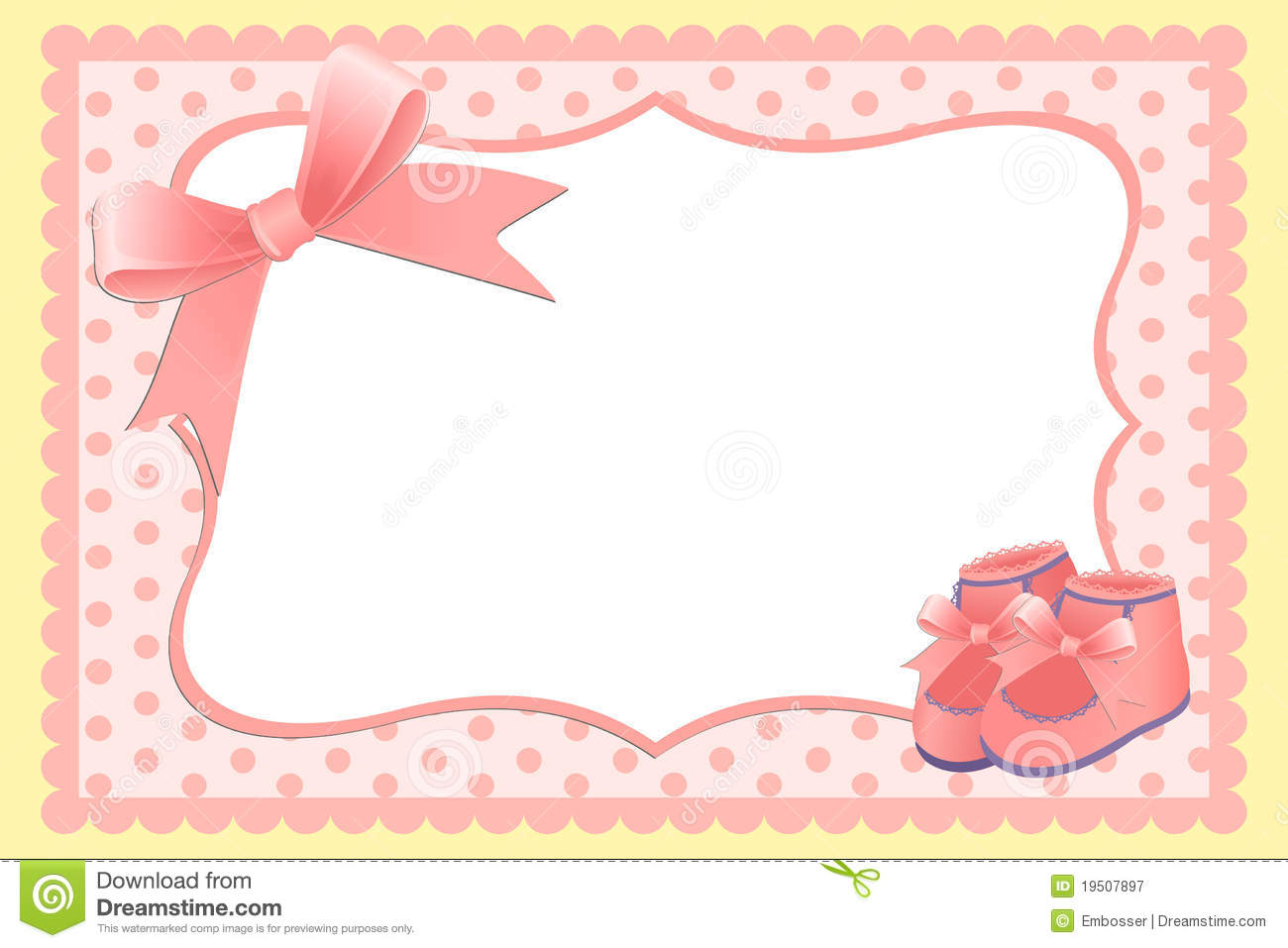 cute template for babys arrival announcement card or photo frame
