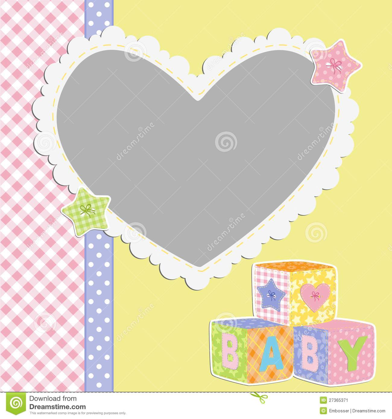 Cute Template For Babyu0026#39;s Card Stock Image - Image: 27365371