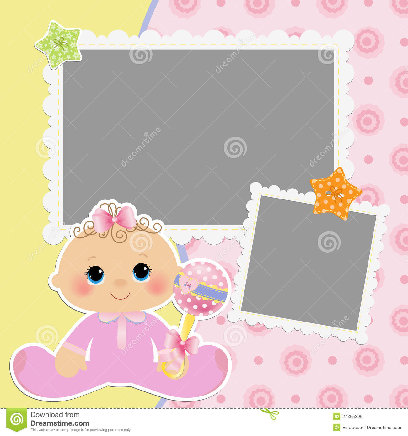 cute template for baby s card stock vector illustration of bottle