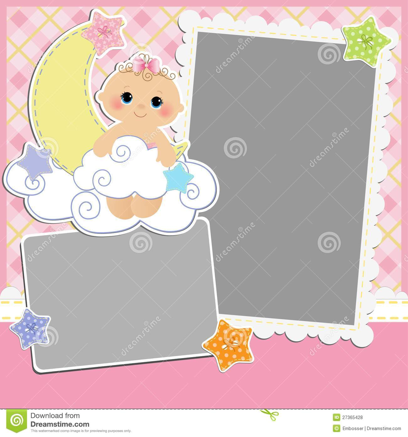 Cute Template For Baby S Card Royalty Free Stock Photos