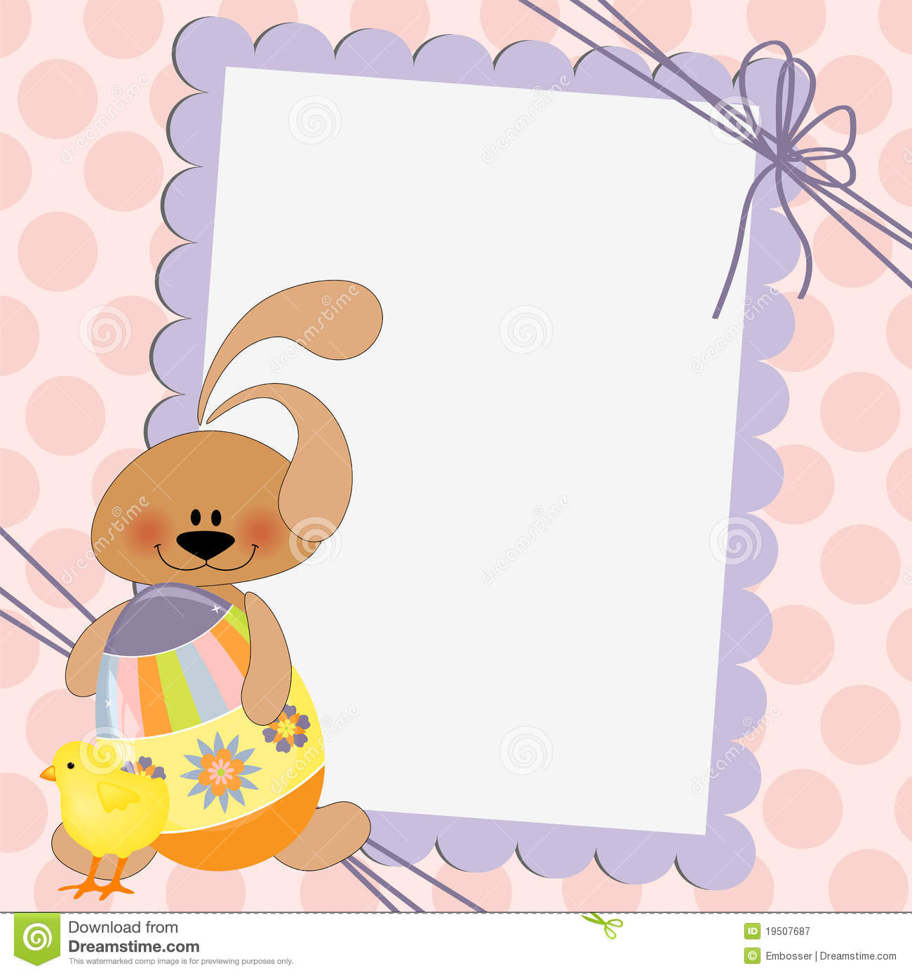 Cute Template For Easter Postcard Royalty Free Photography – Sample Easter Postcard Template