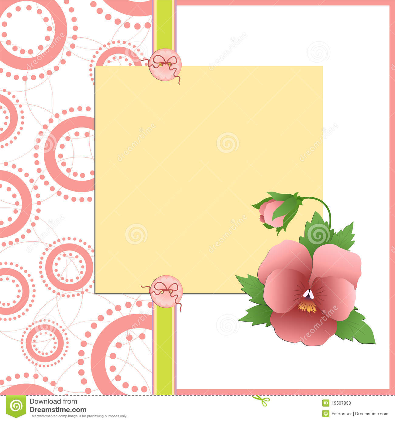 Cute template for Mother s Day postcard