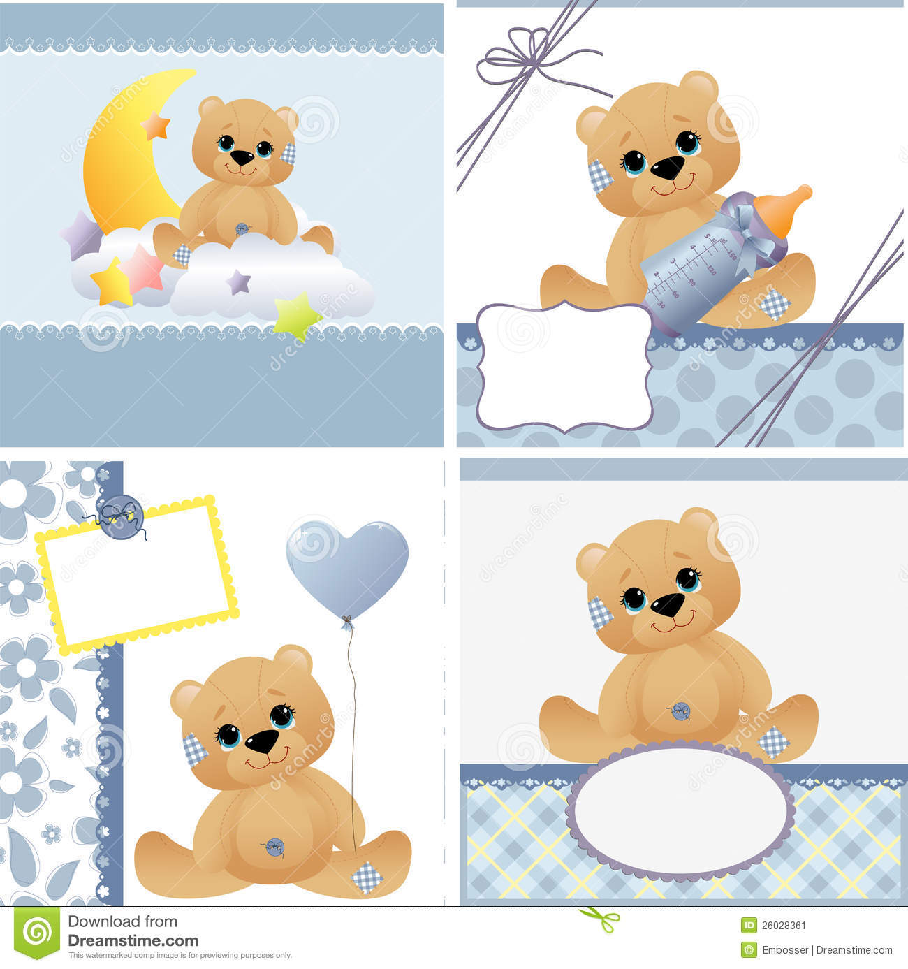 Baby Templates | Cute Templates For Baby Card Stock Vector Image 26028361