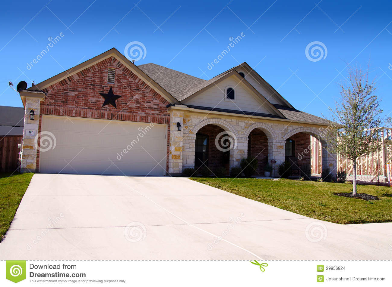 Texas House New Construction Star Stock Images Image