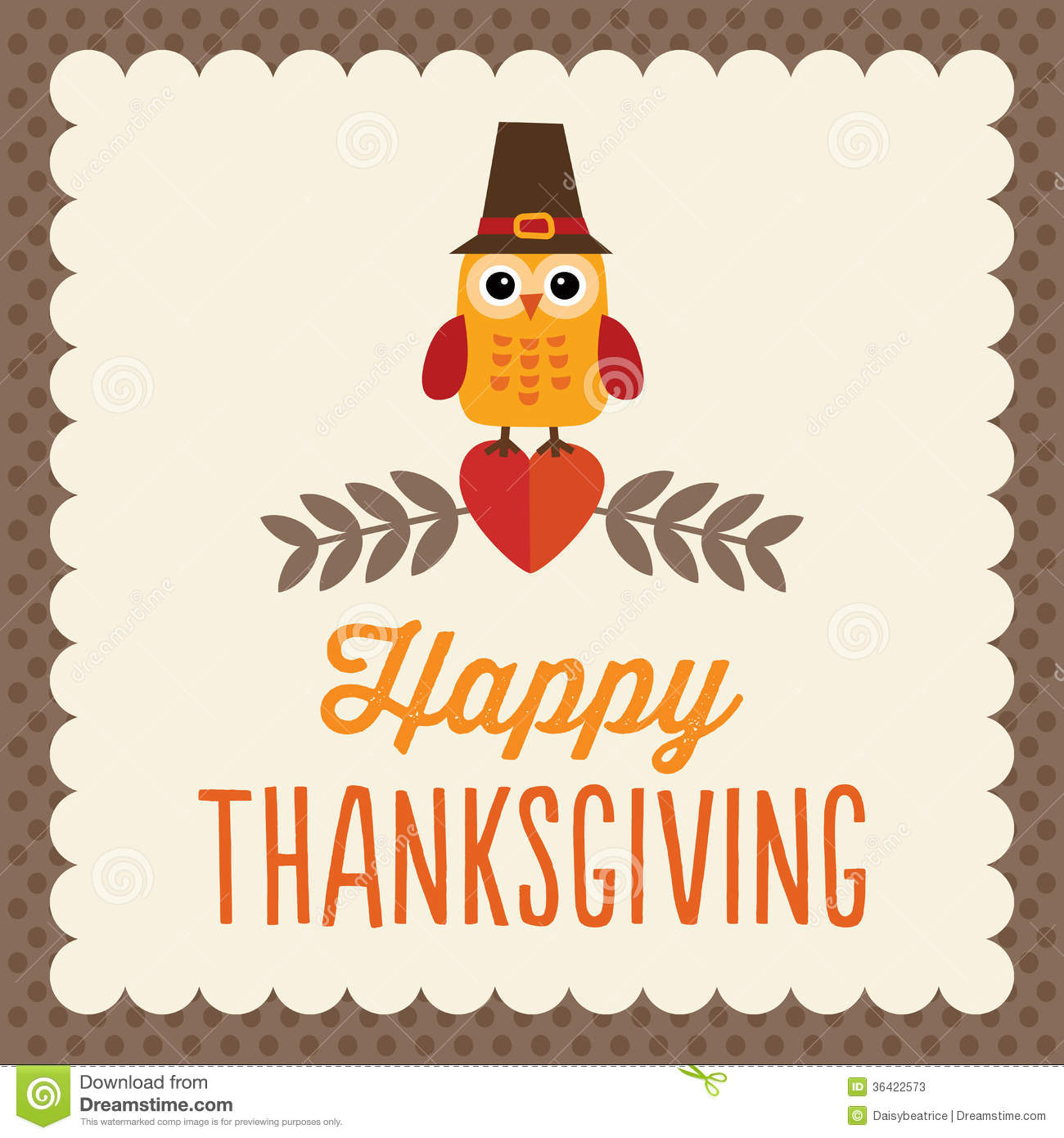Cute Thanksgiving Card Stock Vector Illustration Of Festive
