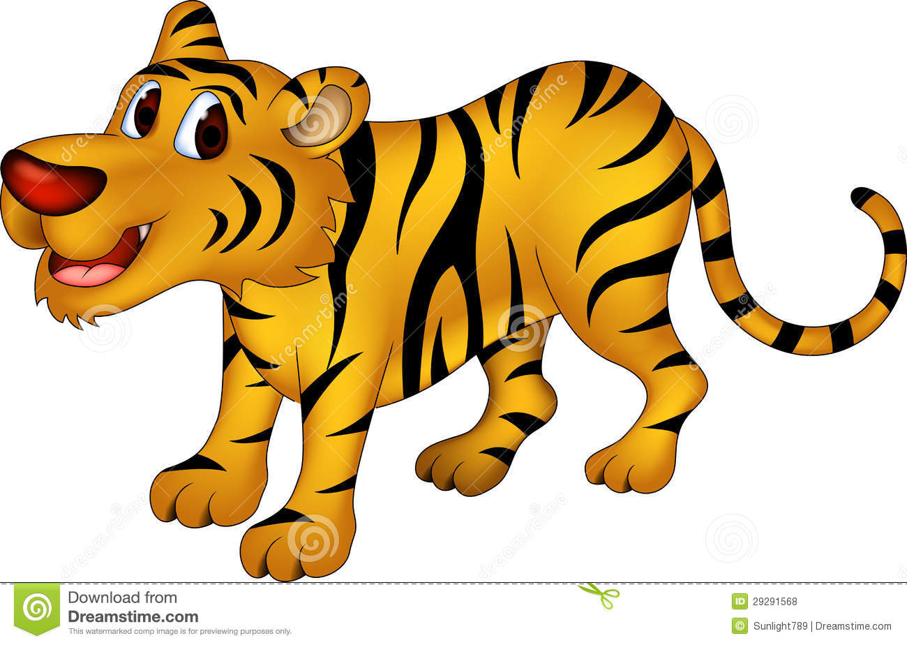 Cute Tiger Cartoon Royalty Free Stock Photos - Image: 29291568