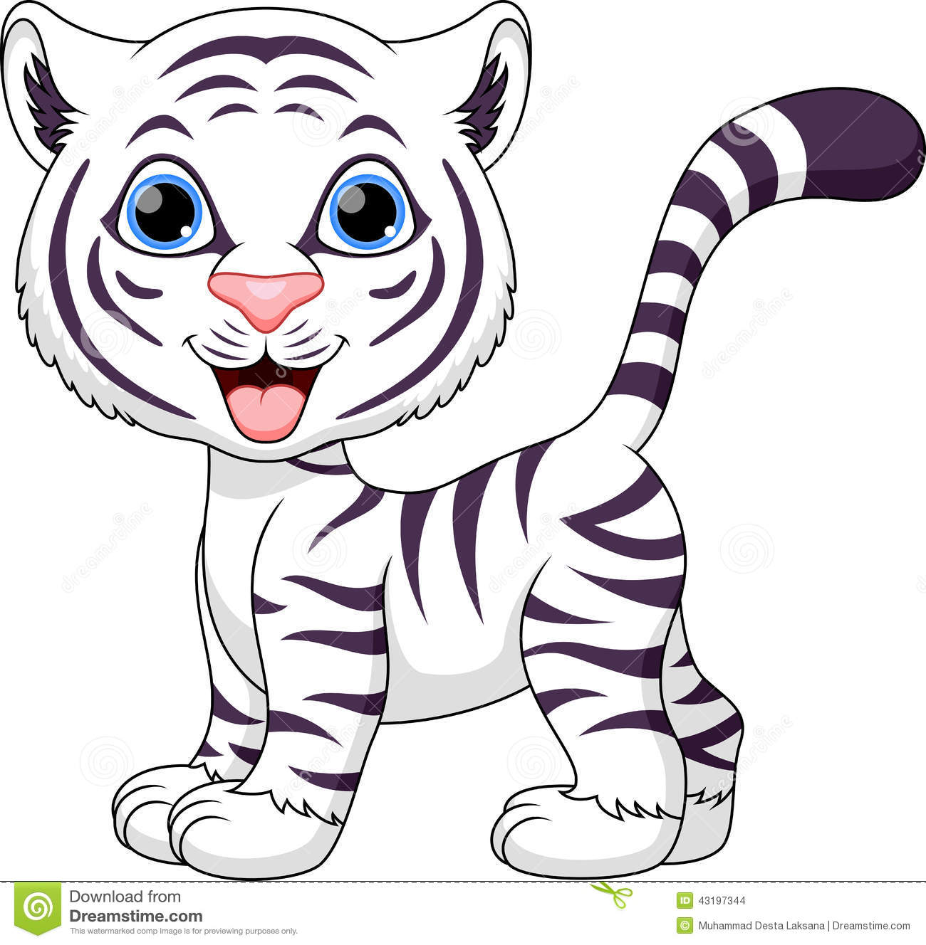 Cute Tiger Cartoon Stock Illustration Illustration Of Safari 43197344