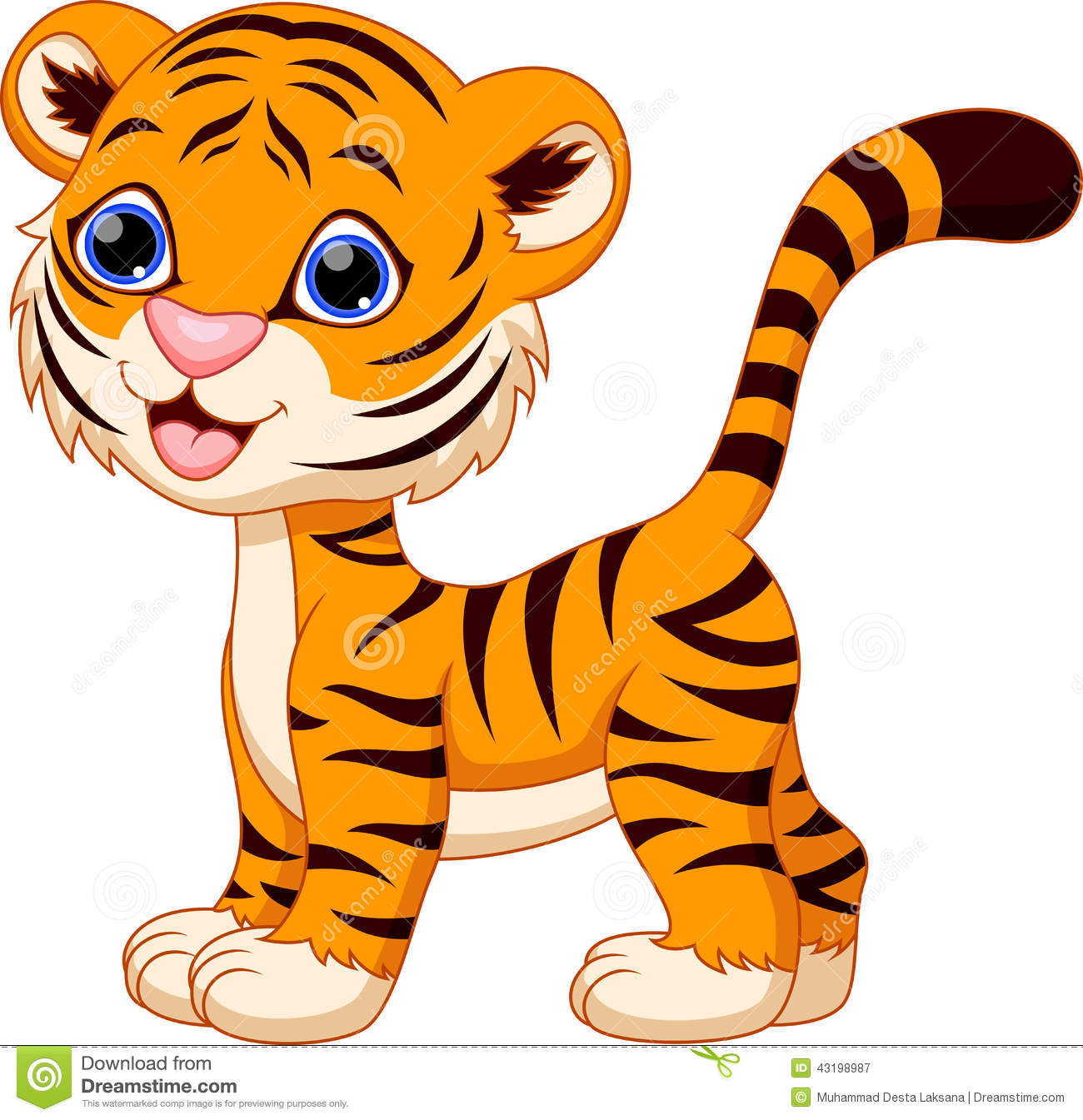 Cute tiger cartoon stock illustration illustration of cute 43198987 - Image dessin tigre ...