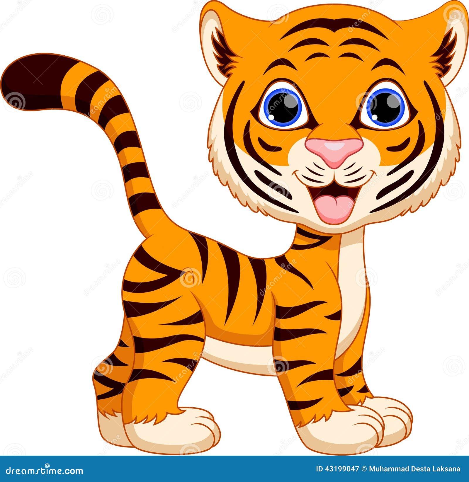 Cute Tiger Cartoon Stock Illustration - Image: 43199047