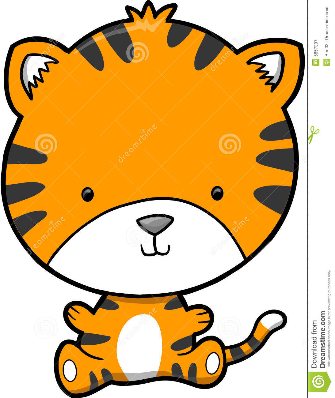 cute tiger vector royalty free stock photography image 6857397