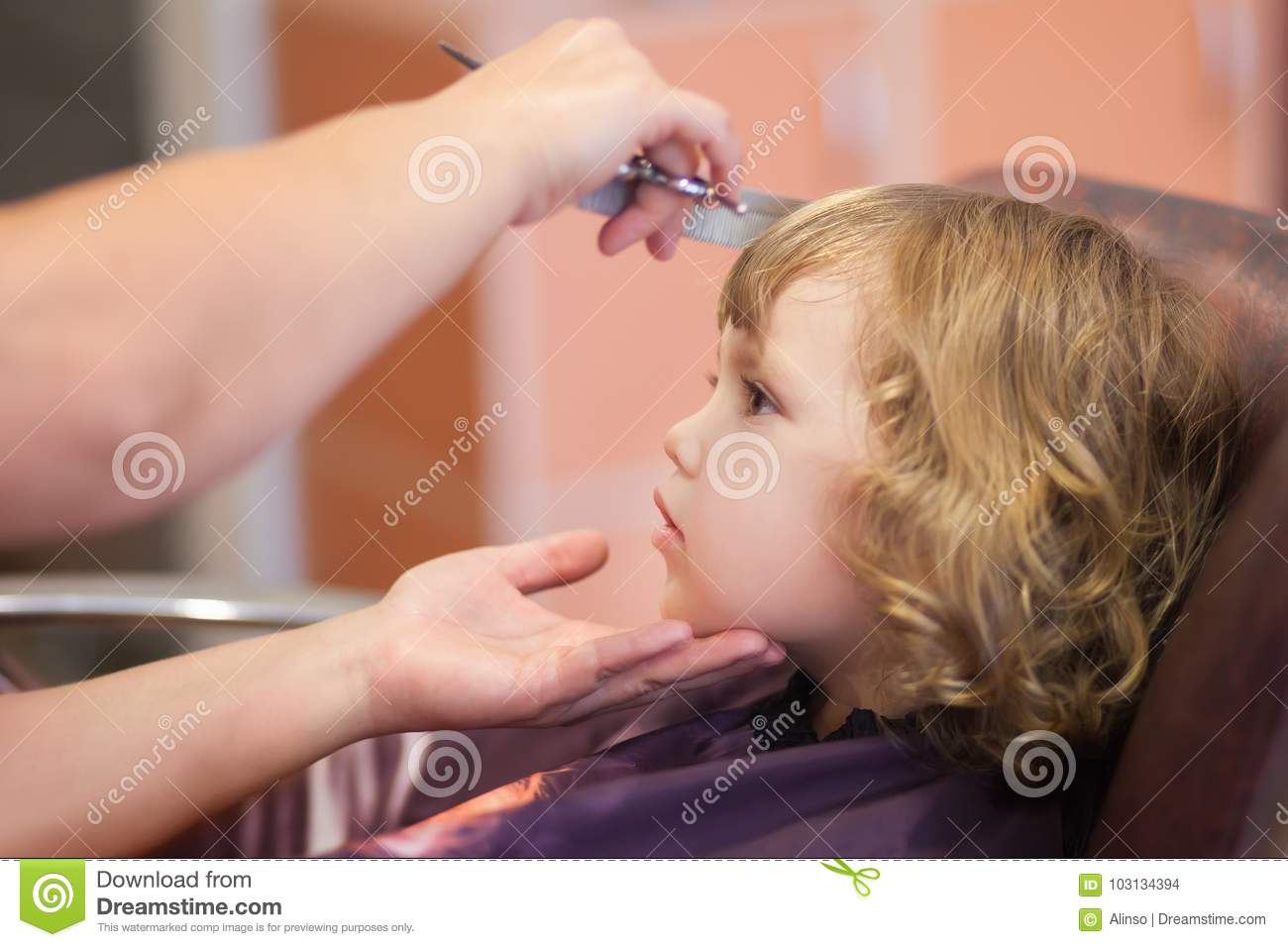 Cute Toddler Girl At The Beauty Salon Stock Photo Image Of Pretty