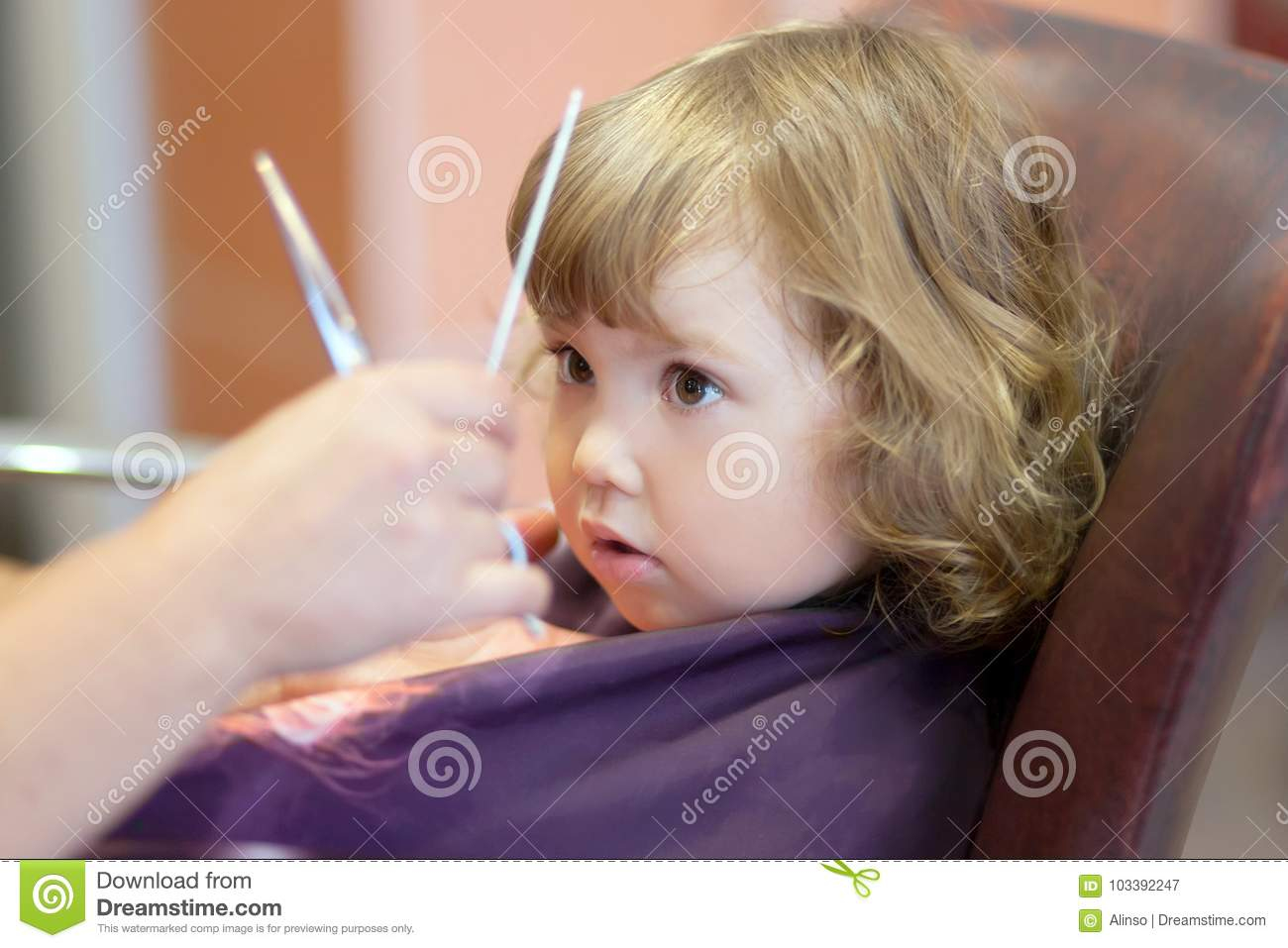 Cute Toddler Girl At The Beauty Salon Stock Image Image Of Little
