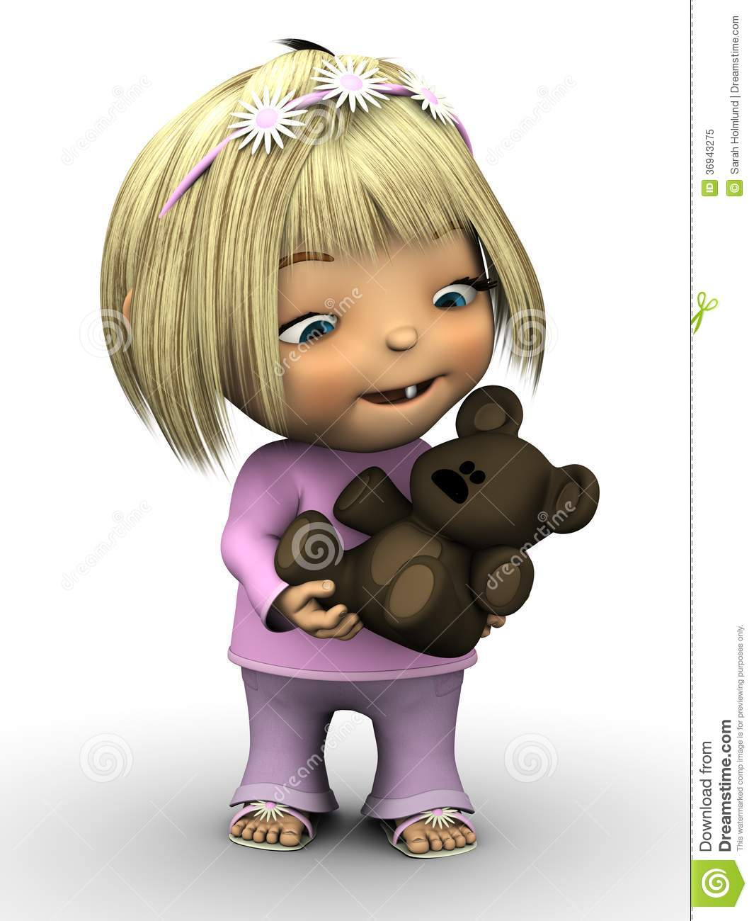 cute toddler girl holding teddy bear royalty free stock photo   image