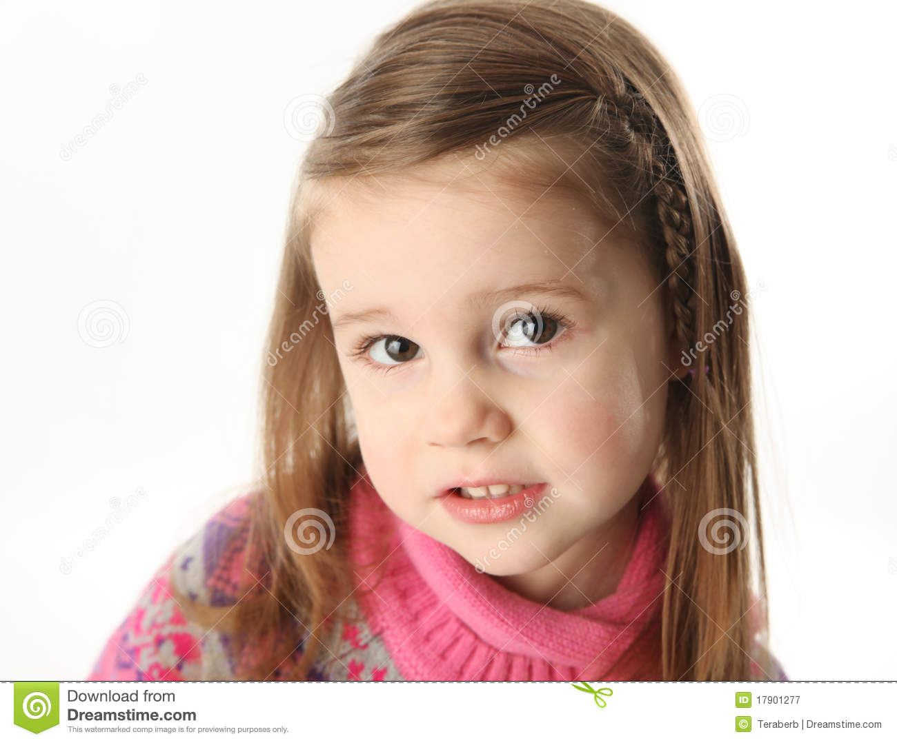 Cute Toddler Girl Wearing A Scarf Stock Image Image Of