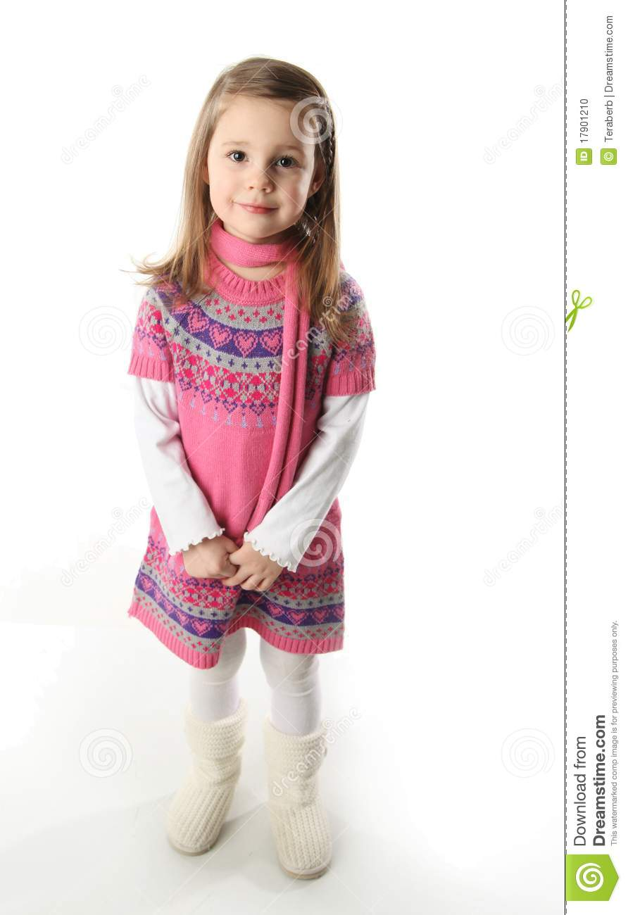 Toddler Girl With Scarf Fashion