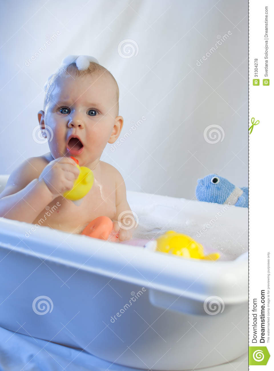 cute toddler infant baby have fun playing bath white. Black Bedroom Furniture Sets. Home Design Ideas