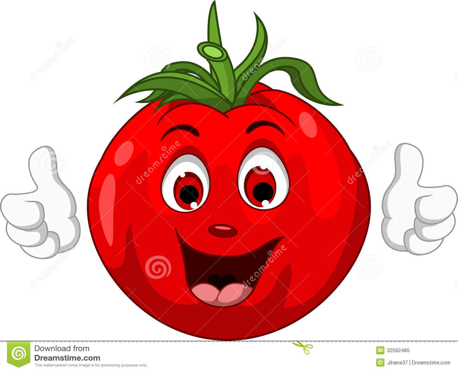 Cute Tomato Cartoon Character Giving Thumbs Up Royalty ...