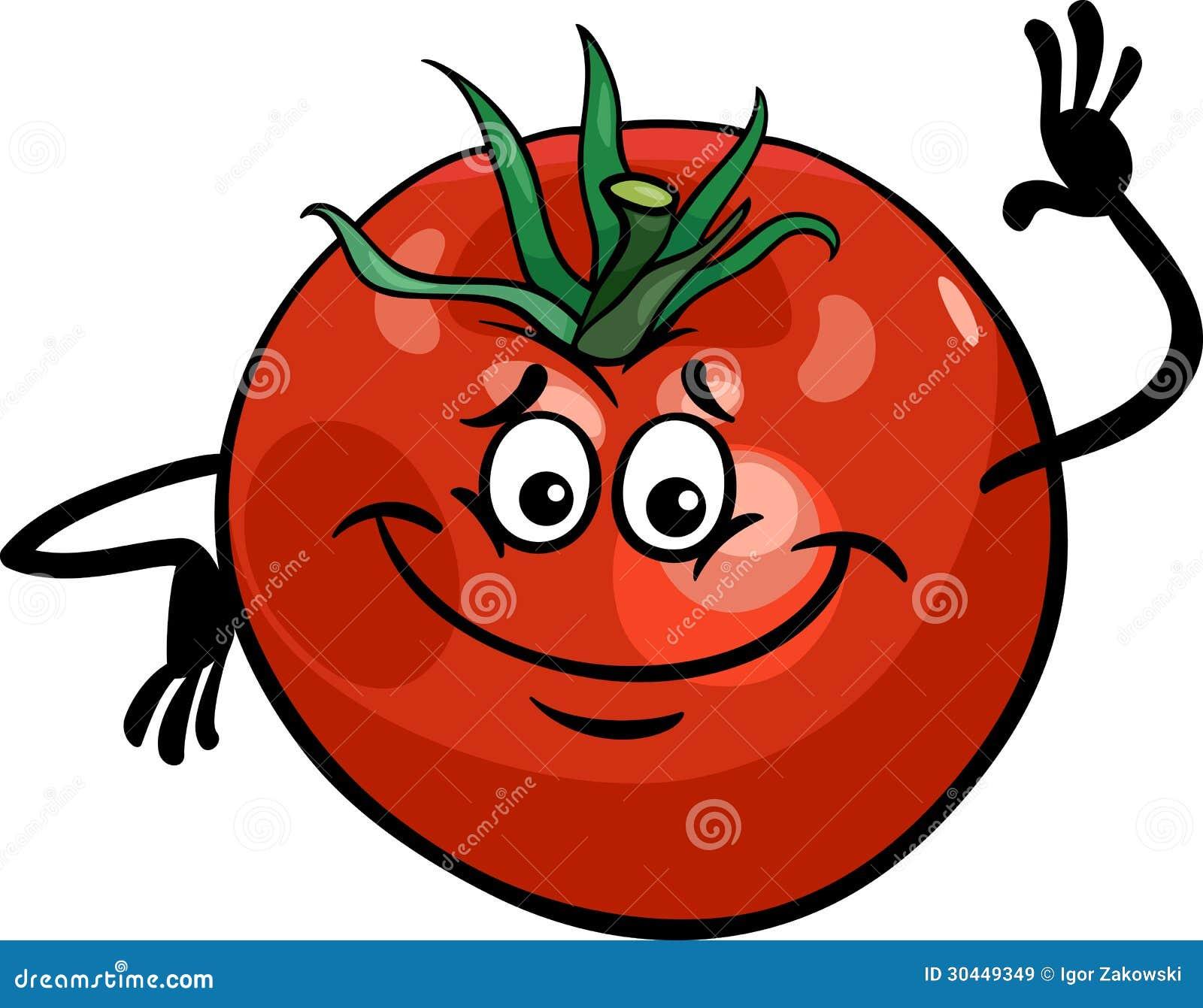 Cute Tomato Vegetable Cartoon Illustration Stock Vector ...