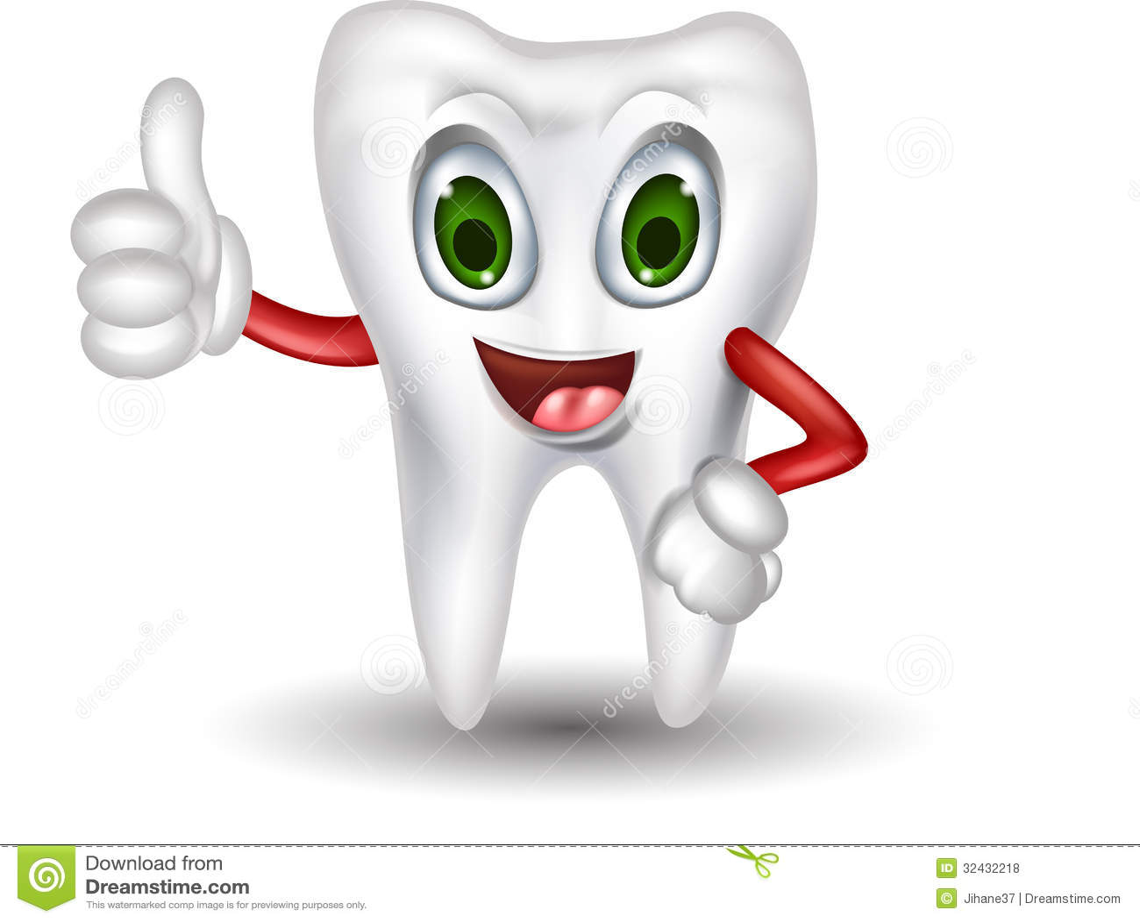 Cute Tooth Cartoon Thumb Up Royalty Free Stock Photos - Image ...